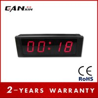 Wholesale GANXIN Digits RED Aluminum Frame Remote Control With alam LED Digital Wall Clock Countdown up in Minutes Seconds
