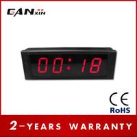 al por mayor control remoto marco digital-[GANXIN] 1 '' 4Digits RED marco de aluminio de control remoto con Alam LED Digital reloj de pared Cuenta atrás / hasta en minutos segundos