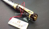 Wholesale Aigner Pen ballpoint pen Oblique Head Series Resin And Metal Coffee Color Golden Silver Clip