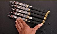 Wholesale Outdoor high quality portable ultra light ultra short super hard spinning hand M telescopic carben fiber fishing rod pole