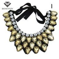 Wholesale Women Handmade Exaggerate Crystal Big Necklace Hi Q Collar Fashion Statement Necklaces Maxi Jewelry Bijoux femme