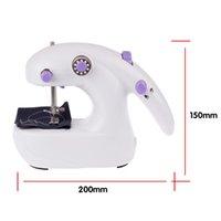 achat en gros de ménage machine à coudre électrique-Mini électrique Machine à coudre à la main ménage Tenue simple couture Outil avec 4 piles AAA Powered
