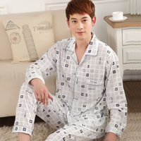 Wholesale summer casual pajamas men nighty pajamas sets knitted modal casual homedress for couple