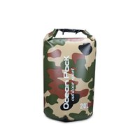 Wholesale 500D PVC camouflage waterproof dry bag outdoor ocean pack dry storage L outdoor pack sport pack drop shipping