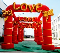 Wholesale Cheap new four piece five piece doors Siamese arches inflatable outdoor wedding ceremony opening the door