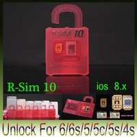 Wholesale Newest Original R SIM rsim R SIM Official Unlock Card for iphone S C S plus iOS7 X X Support Sprint AT T T mobile Cricke
