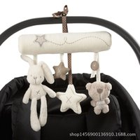 Wholesale Rabbit baby music hanging bed safety seat plush toy Hand Bell Multifunctional Plush Toy Stroller Mobile Gifts WJ141