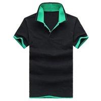 acrylic distributors - 2016 summer new men s casual cotton short sleeved t shirt lapel short sleeved t shirt men polo shirt men Distributor
