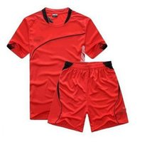 Wholesale men soccer jersey summer tracksuit high quality dry fit sizes colors option stitch your name number
