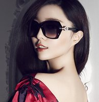 acrylic uv resistance - Female Fashion Sunglasses Large Glass Lens Sunshine Resistance UV Protection Cheap Sun Glasses Black Eyes Cover with bags