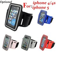 Wholesale 500pcs Sport Running Arm band Armband Case Holder case For apple iphone s c for iphone s Solf Belt arm band