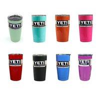 Wholesale Double Walled Travel Mug Ye ti cup oz YE TI Tumbler Rambler Cups colourful Stainless Steel Tumbler Mugs Ye ti cups also have oz