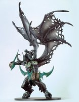 Wholesale New WOW Gift Demon Form illidan Stormrage Toy Figure statue Doll in Retail box Toys DOLL