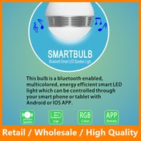 Wholesale Smart Bulb Wireless Bluetooth Audio Speakers W E27 LED RGB Light Music Bulb Lamp Color Changing WIFI APP Control