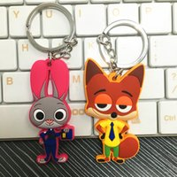 toy for man - Zootopia figures keychain ring toys Cartoon Animal the Rabbit Judy Hopps Nick Fox pendant accessories gifts for kids child LC336