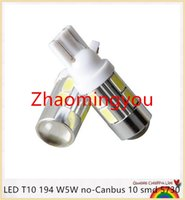 Wholesale HONG NEWS Car Auto LED T10 W5W no Canbus smd cree LED Light Bulb No error led light Car styling