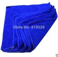 Wholesale 50pcs cmx30cm Blue Microfiber Car Cleaning Towel Microfibre Detailing Polishing Scrubing Waxing Cloth Hand Towel W048