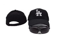 angeles outs - 2016 New Black Color Los Angeles Dodgers Golf Visor Snapback Hats Fashion Stretched Adjustable Baseball Caps Summer Out Door Peaked Hats