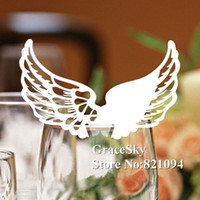 angle names - 60PCS Laser Cutting Angle wings Paper Wine Glasses Place Seat Name Card Butterfly Shaped for Paper Wedding Party Decorations