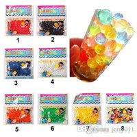 Wholesale 10bag Pearl shaped Crystal Soil Water Beads Mud Grow Magic Jelly balls wedding Home Decor ZJ