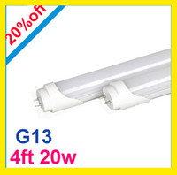 Wholesale led ft T8 G13 Led Tubes Light W W ft mm SMD2835 Led Fluorescent Tube Light Lumens AC V CE UL