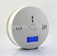 Wholesale LCD Sensor Warning CO Carbon Monoxide Poisoning smoke Gas Alarm Detector Tester LCD DHL Fedex Free ship