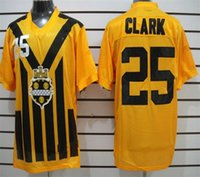 Cheap Cheap Elite American Football Jerseys for Men Clark 25 Steelers Stitched Name Number White Black Free Drop Ship Mix Order Sunnee