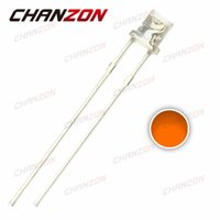 Wholesale mm Water Clear Orange Flat Top LED Light Diode Lamp mm High Brightness Light Emitting Diode Bulb Transparent