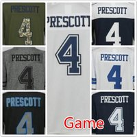 Wholesale Newest Cowboys Dak Prescott Limited Men s football jerseys Embroidery Name and Logos cheap Game football jerseys Replica Welcome Orders