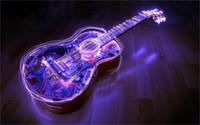 beautiful logo designs - 24X36 INCH ART SILK POSTER Beautiful Guitar acoustic waves light logos music Home Decoration Canvas Poster