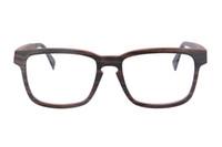Wholesale 2016 New SHINU Brand Rectangular Wood Glasses Frame With Clear Lens for Men Prescription Eyeglasses Walnut