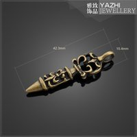 antique dagger - Dagger alloy charm pendant Antique bronze DIY jewelry accessory SH5158 DIY jewelry Findings Components
