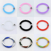balance rings - Silicone Bracelet New Style Bracelets Mud and Water Black and White beads Silicone Bracelet Gift Jewelry Balance silicone bracelet