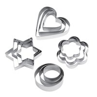Wholesale Hot Stainless Steel Cookie Biscuit DIY Mold Star Heart Cutter Baking Mould New