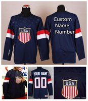 Cheap 2014 Olympic Winter Team USA Men's Custom Navy Hockey Jerseys #88 KANE #24 CALLAHAN Professional High Quality Stitched Wear