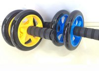 Wholesale 14 cm Fitness Exercise Double Use AB Wheel Roller