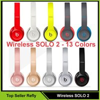 Wholesale Used Wireless Beats SOLO Headphone Active Color Wireless SOLO Rose Gold Bluetooth Headset VS Wireless studio Refly