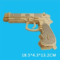 Wholesale 3D Wood Gun Model Toys for Adults Top Quality Cheap Wooden Mauser Pistol Gun Puzzles Toys for Children A050