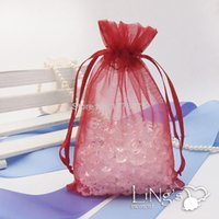 Wholesale cm Solid color silk pearl yarn bags accessories jewelry storage bag