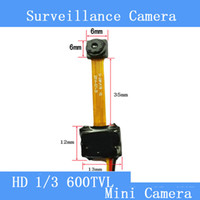 Wholesale Smallest Hd Cctv Camera - Industrial, medical 5MP HD600TVL mini surveillance camera module smallest micro-camera module is only 6.5 * 6.5mm pinhole camera cctv camera