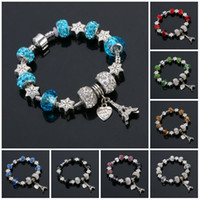 authentic indian jewelry - Charm Bracelets European Jewelry Gift Authentic Tibetan Silver Blue Crystal Charm Bracelets for Women Original DIY Beads Bracelets