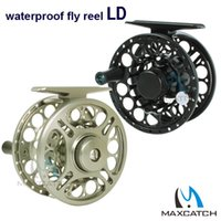aluminum cutting machines - LD WT Fly Fishing Reel Saltwater Waterproof CNC Machine Cut Aluminum Alloy Fly Reel Coil Molinete Pesca BB