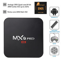 Wholesale Original Quad Core MXQ PRO MXQ Android TV Boxe k Amlogic S905 Android TV BOX With Customized KODI Fully Loaded K H MXQ TV Box