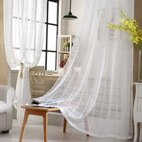 Wholesale Curtains White Lattice Windows Tulle Curtain Cortinas For Living room Bedroom Home Decor Drapes Jacquard Organza Curtain