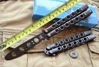 best knife metal - Best Value Butterfly BM40 Black Metal Gift Folding Butterfly Knife Trainer Training Stainless Steel Outdoor Gear F284L