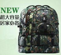 Wholesale 60L Larger Capacity Outdoor Military Sports Hiking Backpack Camping Bag Rucksacks travelling backpack Computer Bag