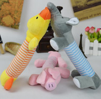 Wholesale Pet Puppy Chew Squeaker Squeaky Plush Sound Pig Elephant Duck For Dog Sound Toys fast shipping