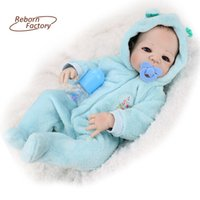 baby full month gift - inches Full Vinyl Reborn Babies Doll With Blue Eyes Fashion Boy Realistic Dolls Gift For Birthday Full Vinyl Boy Baby