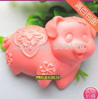 baking pottery - retail Zodiac pig clay pottery mould handmade soap silicone cake mold baking molds