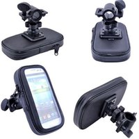 Wholesale New Hot WaterProof Motorcycle Bike Handlebar Mount Case with Mount For Galaxy S3 S4 I9500